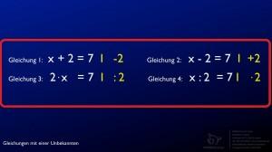 IMMERSCHLAU GmbH Gleichungen mit einer Unbekannten