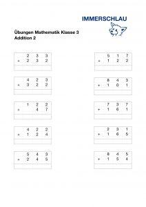 schriftliche Addition Klasse 3