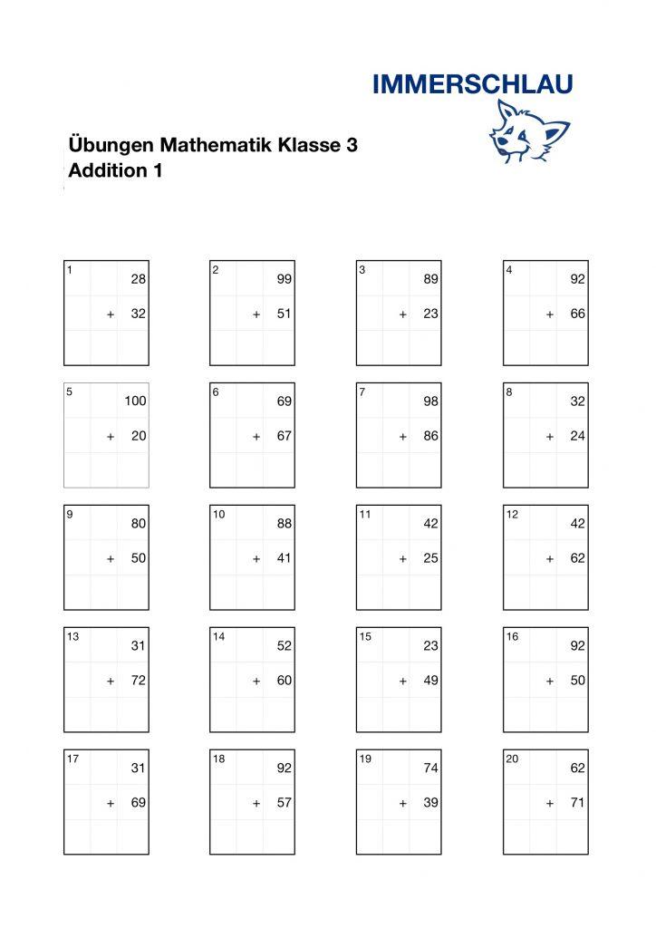 220bungsbl228tter mathematik klasse 3 � addition � immerschlau