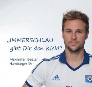Lernen, Nachhilfe Hamburg hat als Gesellschafter Maximilian Beister gewinnen können. Hier ist er im HSV Outfit zu sehen.