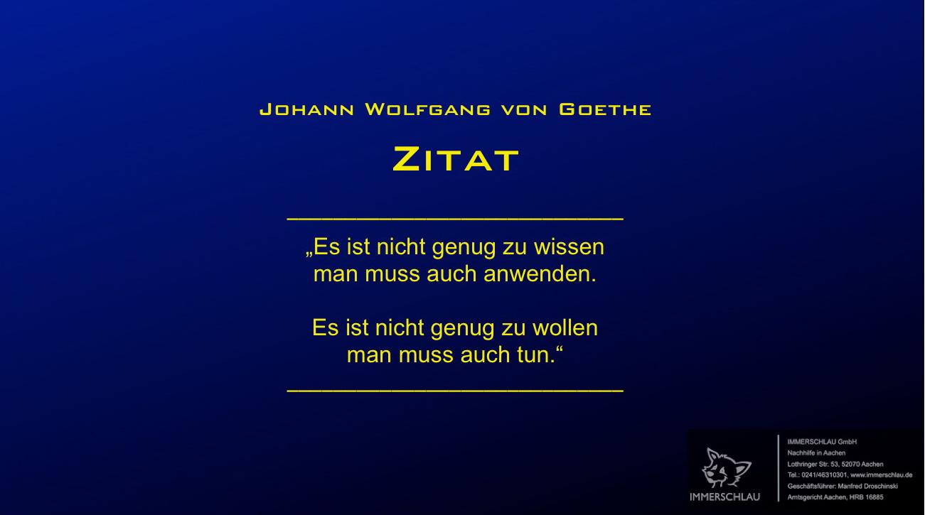 Zitat Von Goethe