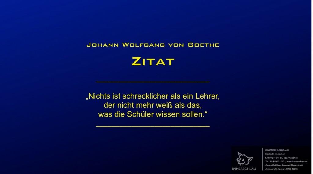 Ein Tipp von Goethe