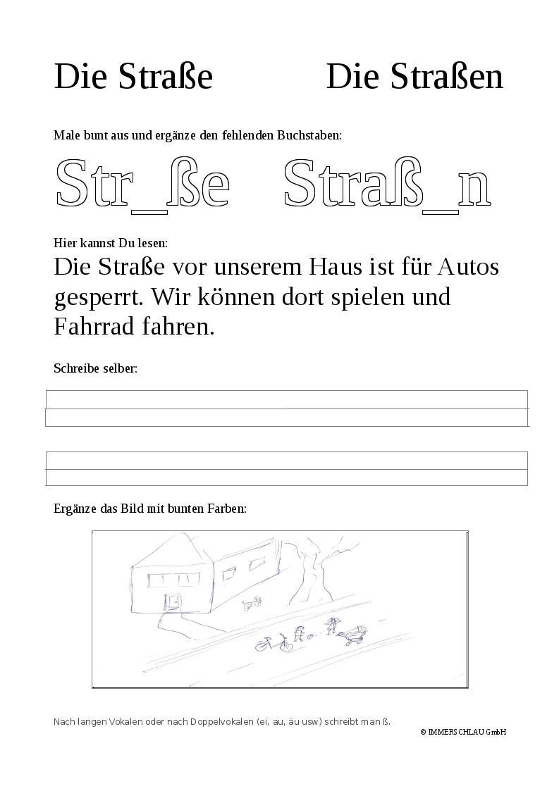 Grundwortschatz Grundschule - Straße