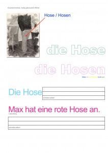 """Grundwortschatz Deutsch """"Hose"""""""